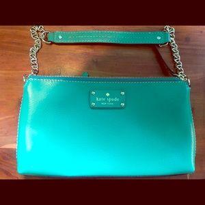 Kate Spade Teal Green Purse Shoulder Bag LIKE NEW